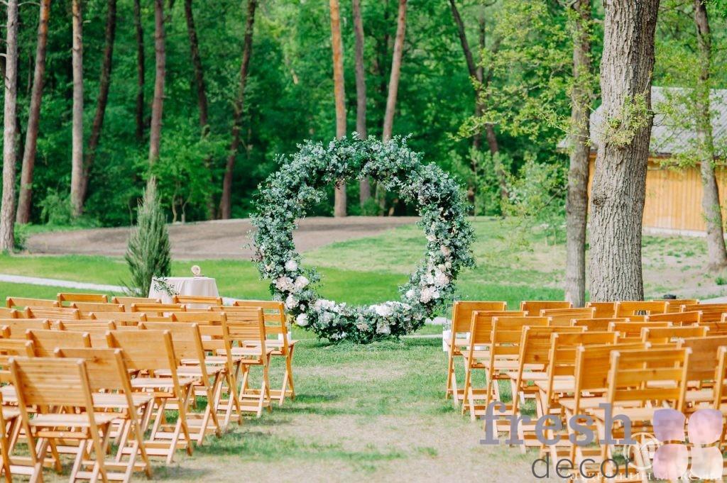 арка кольцо для свадьбы