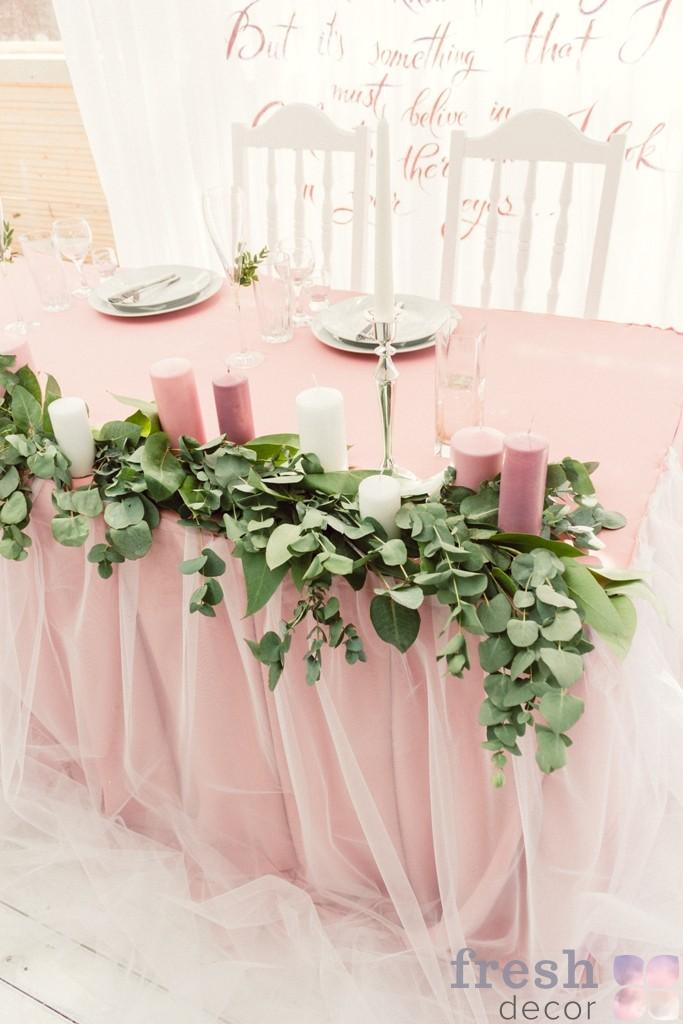 аренда скатерти розового цвета украина