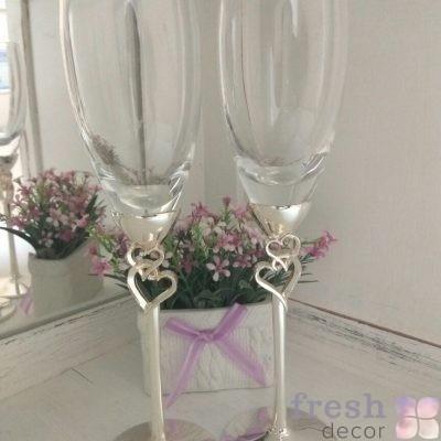 бокалы из стекла дял свадьбы прокат