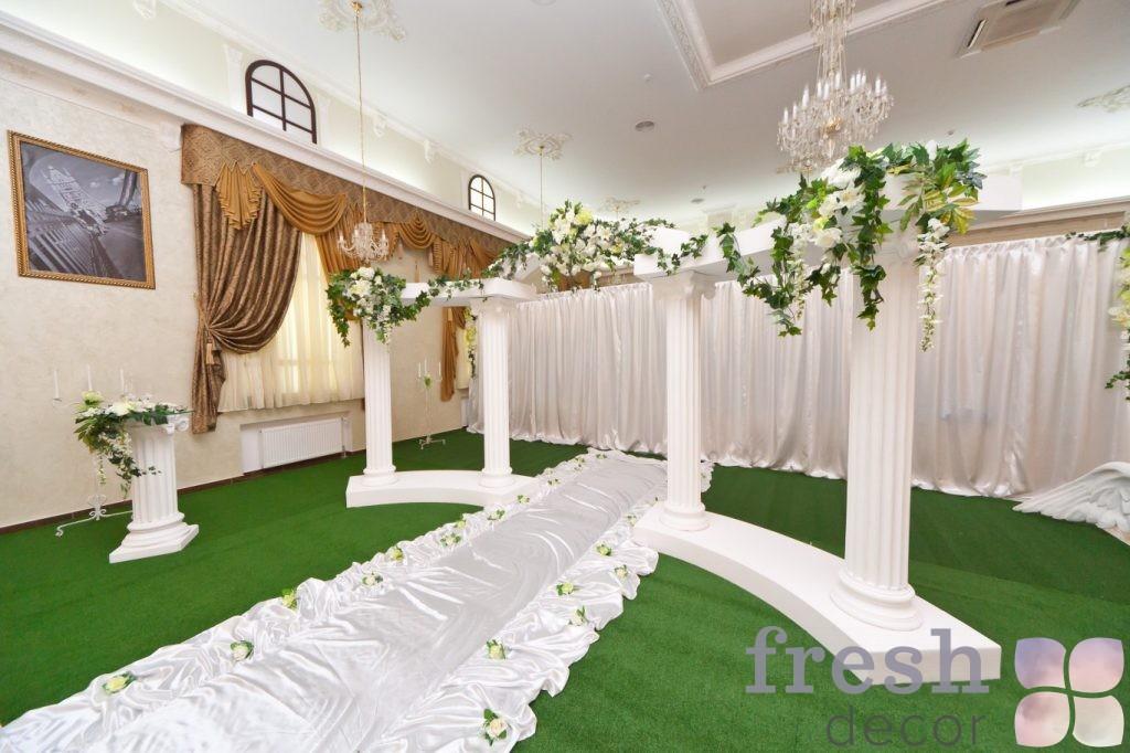 коллонада белая для проката на свадьбу