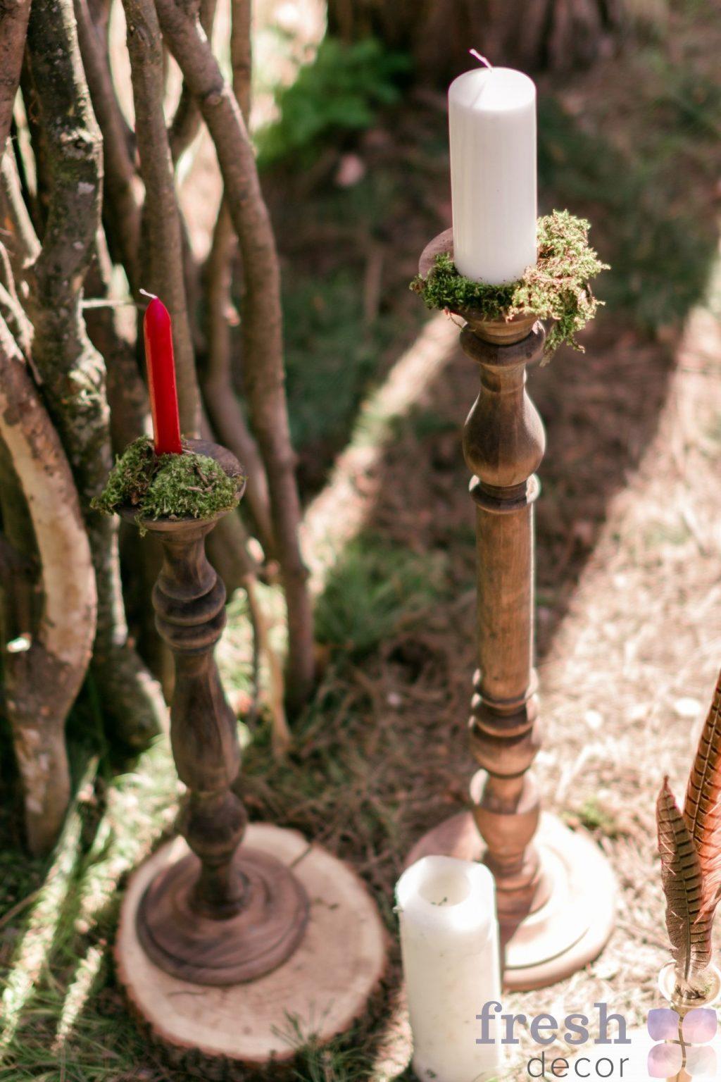 подсвечники из дерева в аренду 4