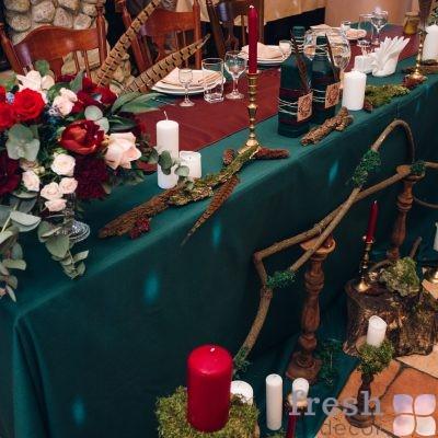 скатерть для стола в аренду зеленая (2)