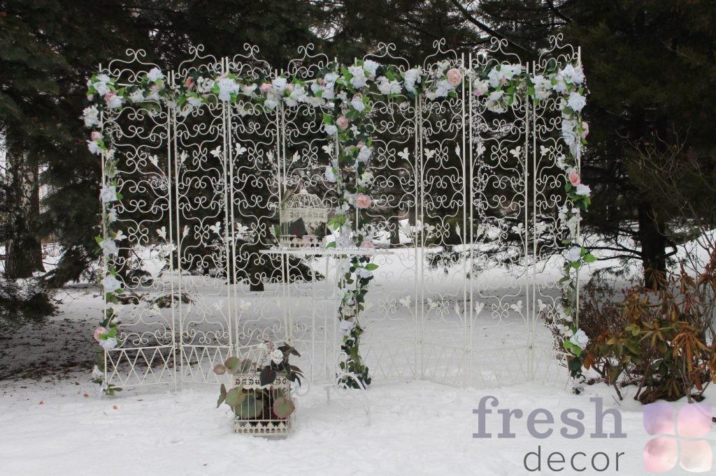 кованая ширма фон для свадьбы