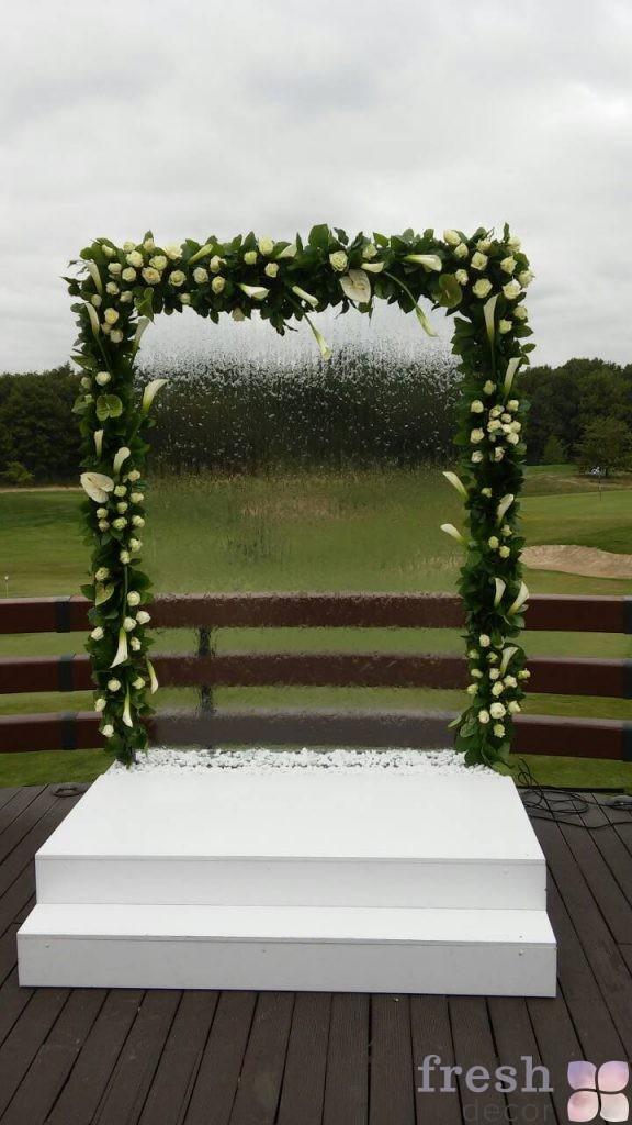 аренда прозрачной стеклянной арки с водой Харьков на свадьбу для выездной церемонии