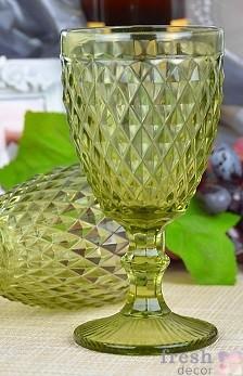 оливковый бокал мелкий ромб