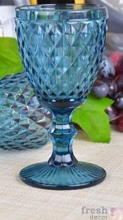 синий бокал мелкий ромб
