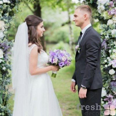 2017 07 14 11 04 06 svadebnaya arka dlya vyezdnoi ceremonii zelenaya s cvetami