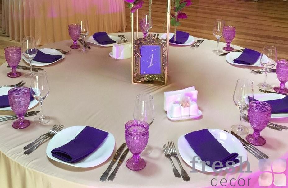 Аренда текстиля на свадьбу на заказ
