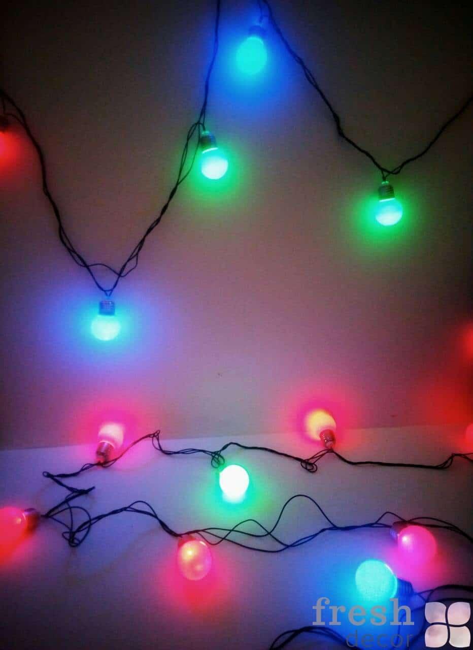 гирлянда с разноцветными лампами в прокат