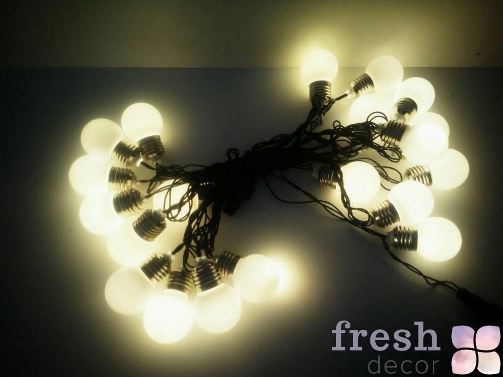 гирлянда с лампами не яркая в аренду