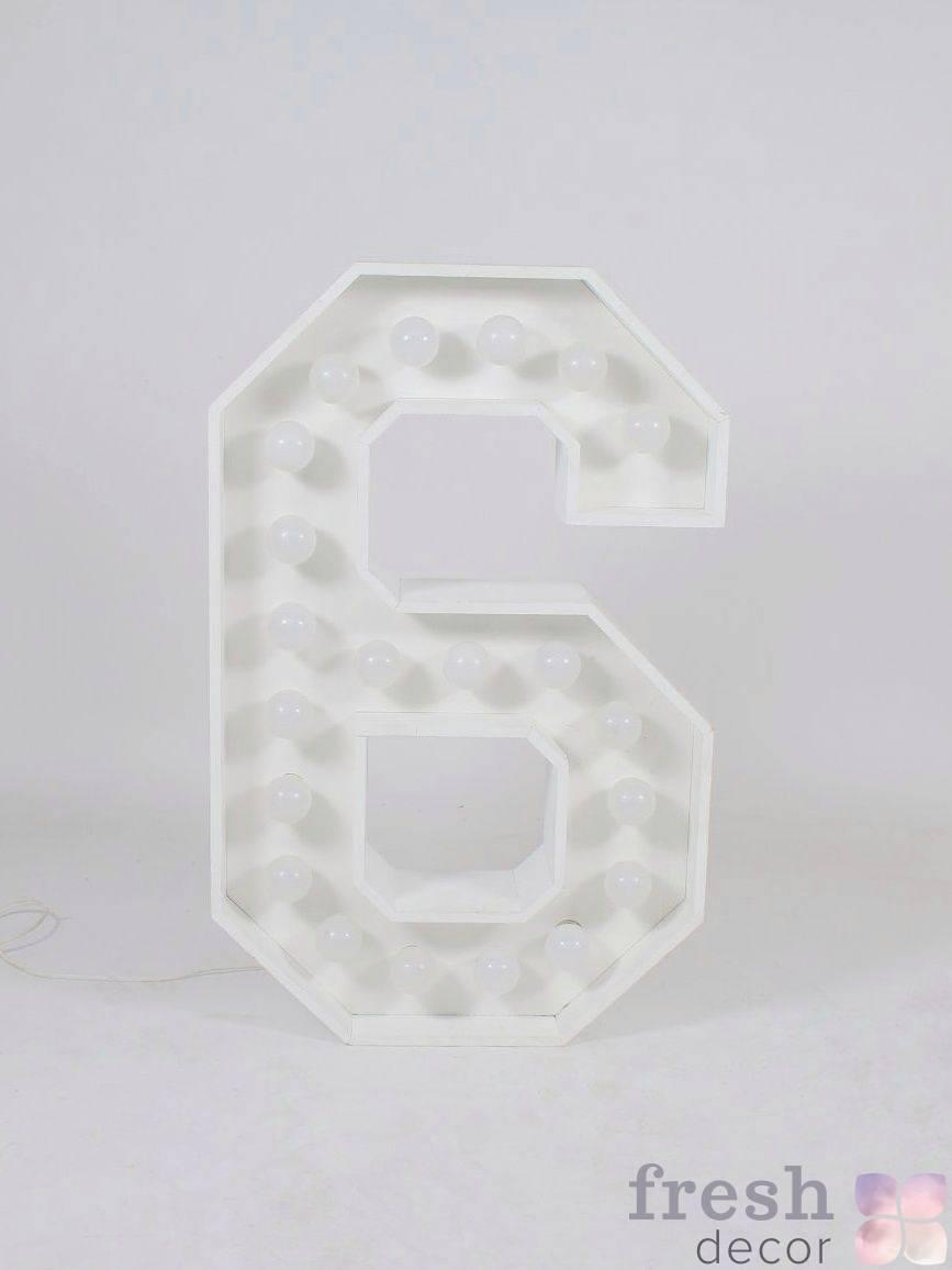cifra 6 s lampochkami prokat
