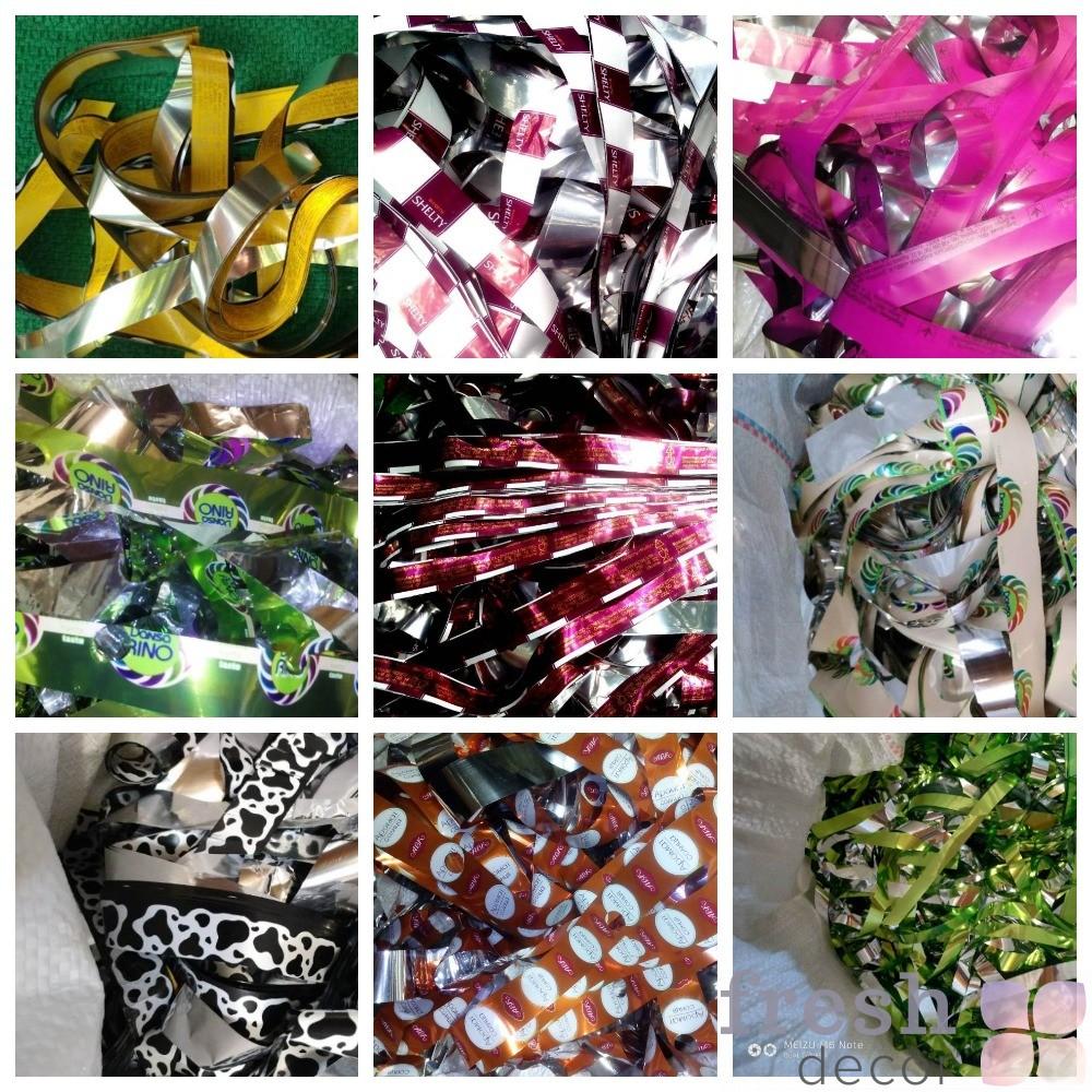 фото конфетки бумаги разных цветов