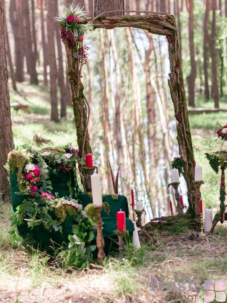 лесная фотозона в лесу харьков берлога аренда прокат большое зеркало кресло посвечники на заказ