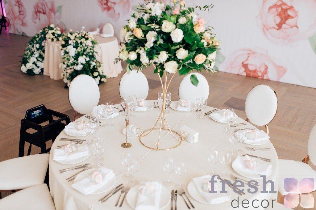 подставка для стола гостей под флористику