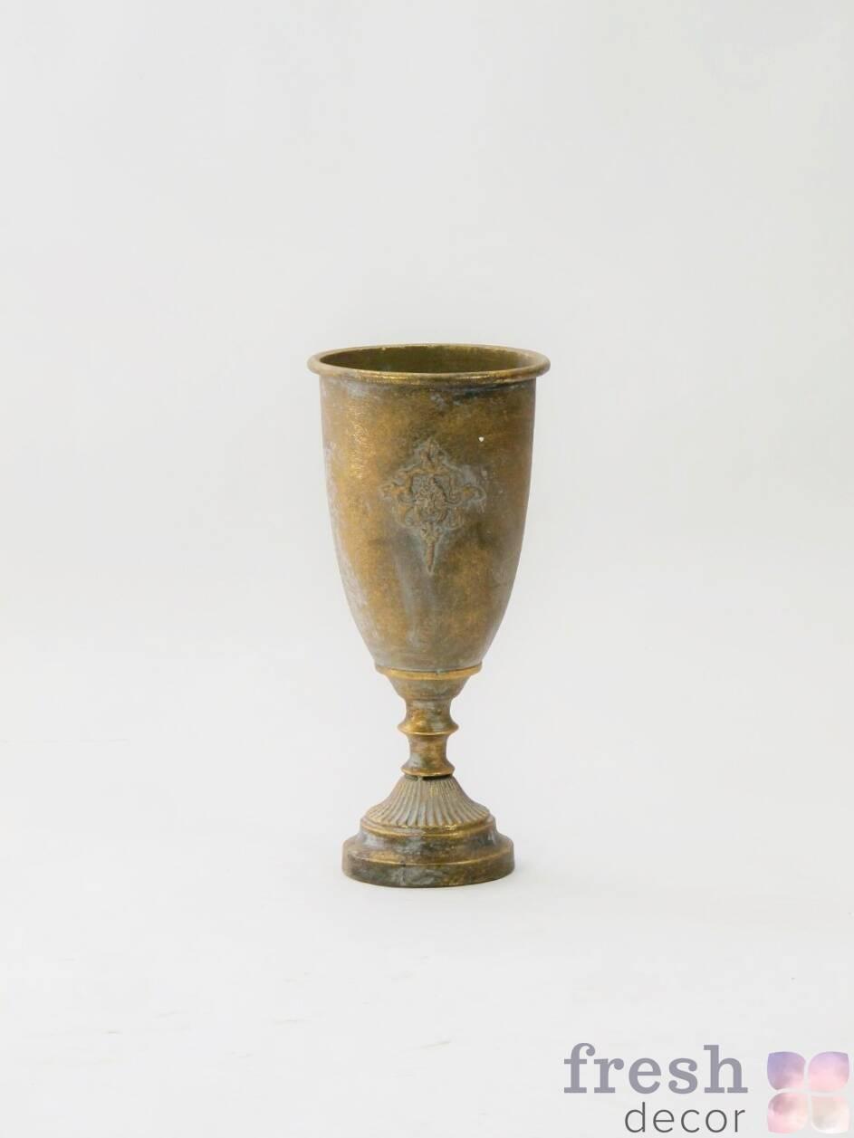 kashpo dlya cvetov bronzovogo cveta v proat
