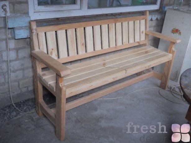 скамейка в аренду деревянная