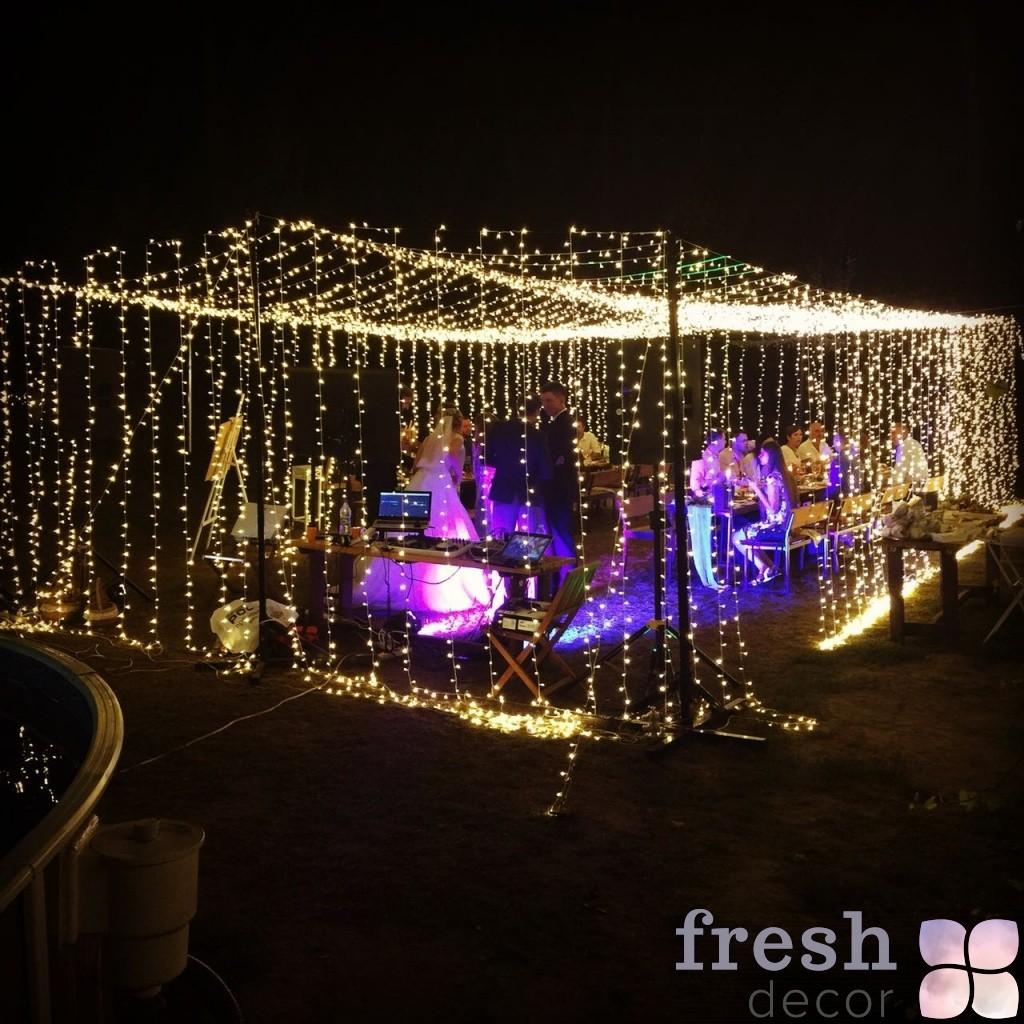 гирлянды световые на свадьбе
