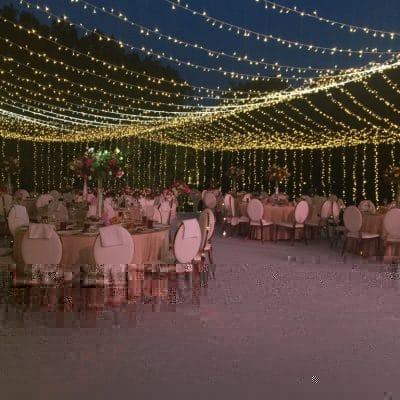 световой шатер на свадьбу
