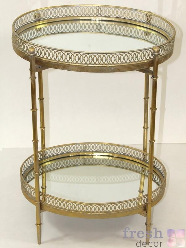 столик для декорирования медный