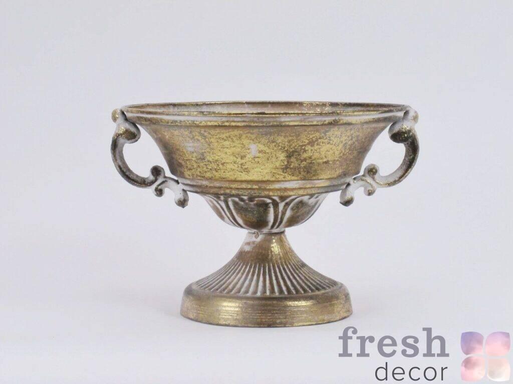 kashpo iz cvetov bronzovoe