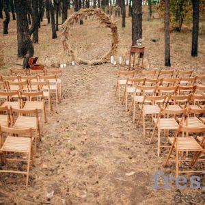 арка кольцо с колосками в стиле рустик