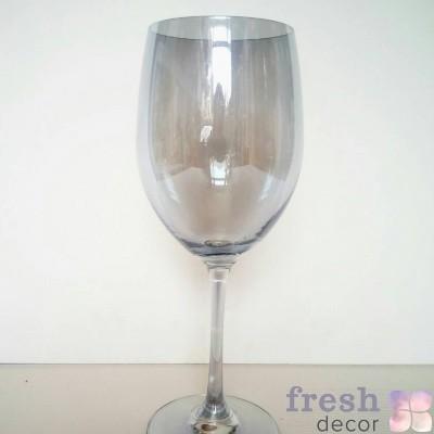 бокал прозрачный серебряный для вина в аренду