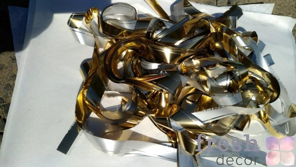 золотая бумага для бумажного шоу