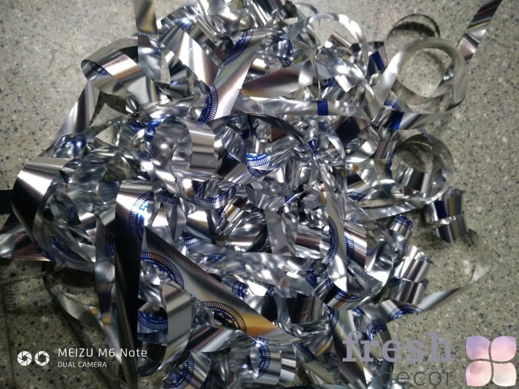 Бумага сине серебряная для бумажного шоу