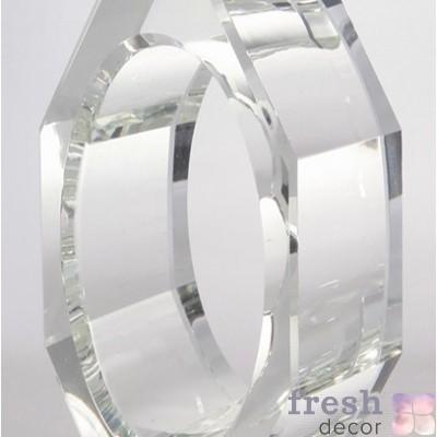 Многогранное кольцо из стекла для салфеток