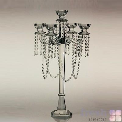Хрустальній подсвечник на 5 свечей