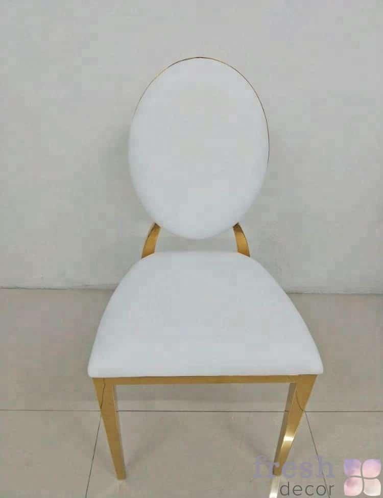 банкетный свадебный золотой стул Милан