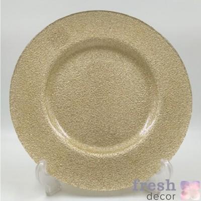 Подстановочная тарелка золотая
