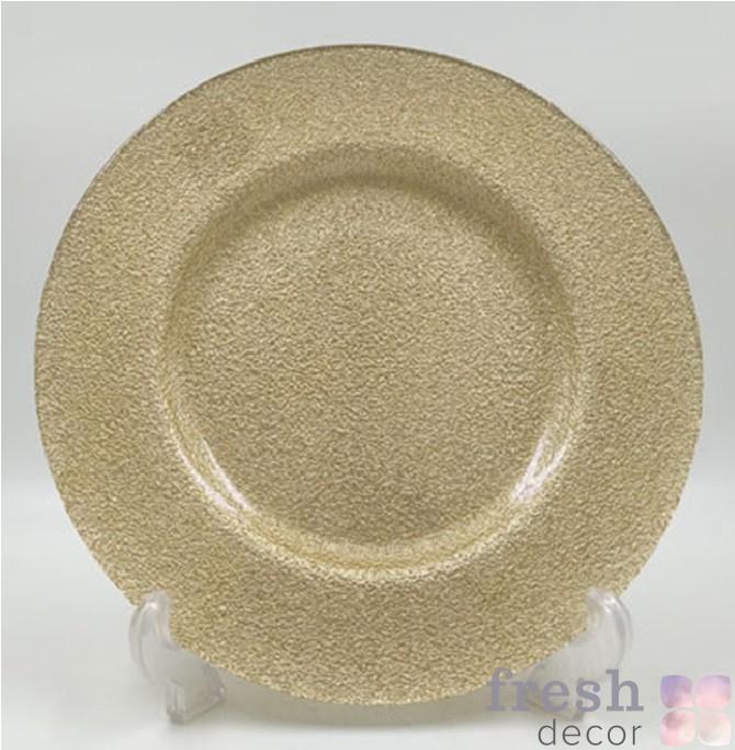 золотая шероховатая подстановочная тарелка