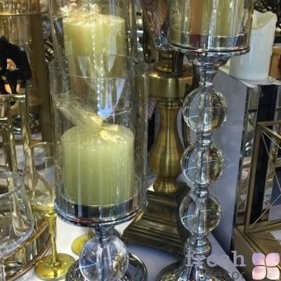 подсвечник из хрустальных шаров и серебра с цилиндрическим колпаком 1 e1542395242368