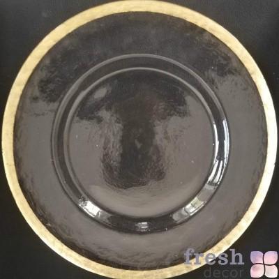 подстановочная тарелка с золотом ободком
