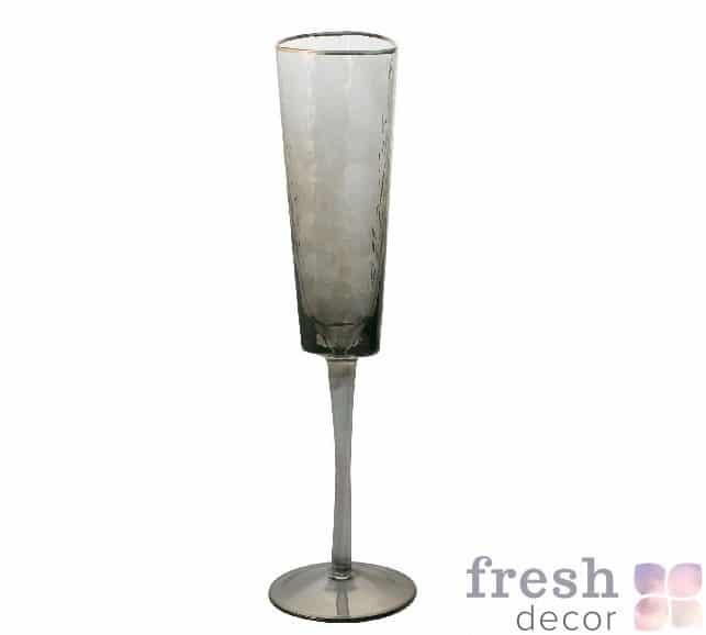 фужеры Эванс для вина розовые с морозного стекла с золотым ободком 3