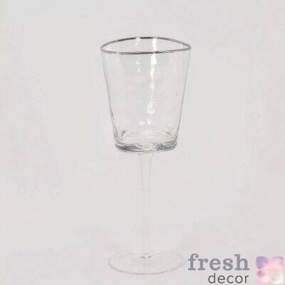 prozrachnye steklyanye fuzhery dlya vina i shampanskogo prodazha v ukraine s serebryanoj okantovkoj