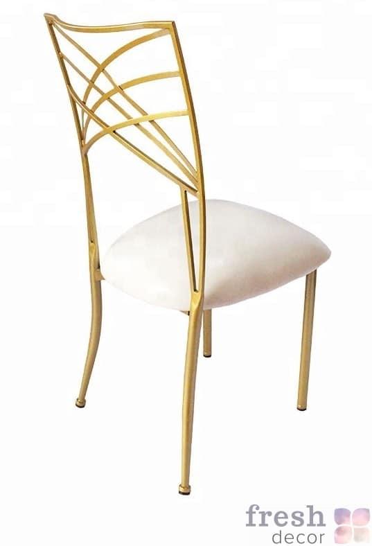 zoloto and white chameleon chair used chiavari