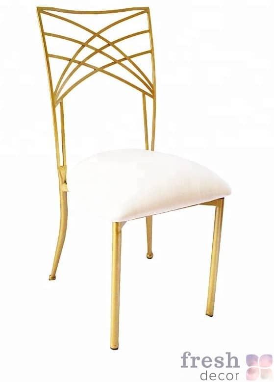zolotoj i white chameleon chair used chiavari
