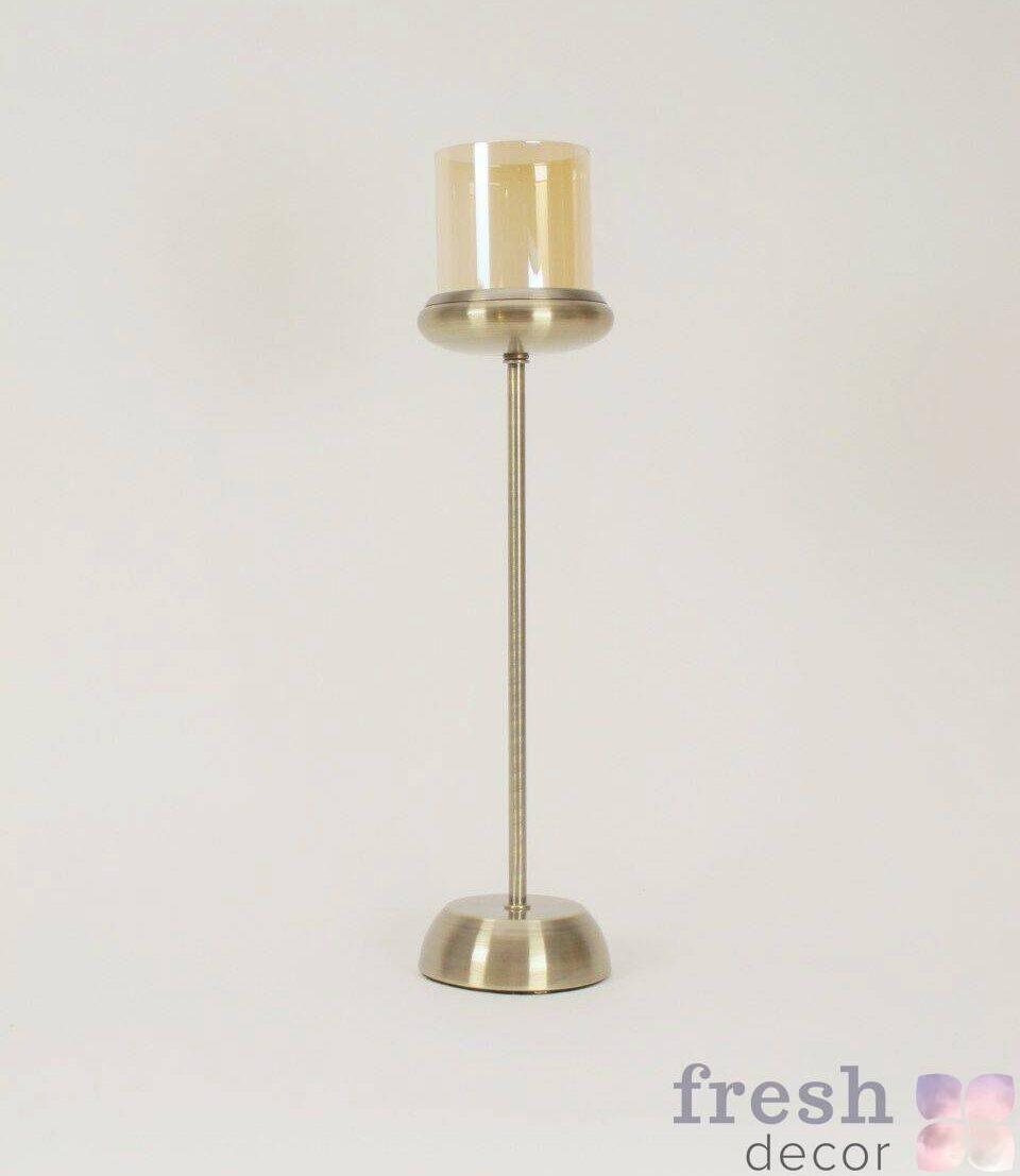 podsvechnik na nozhke bronzovogo cveta vysokij