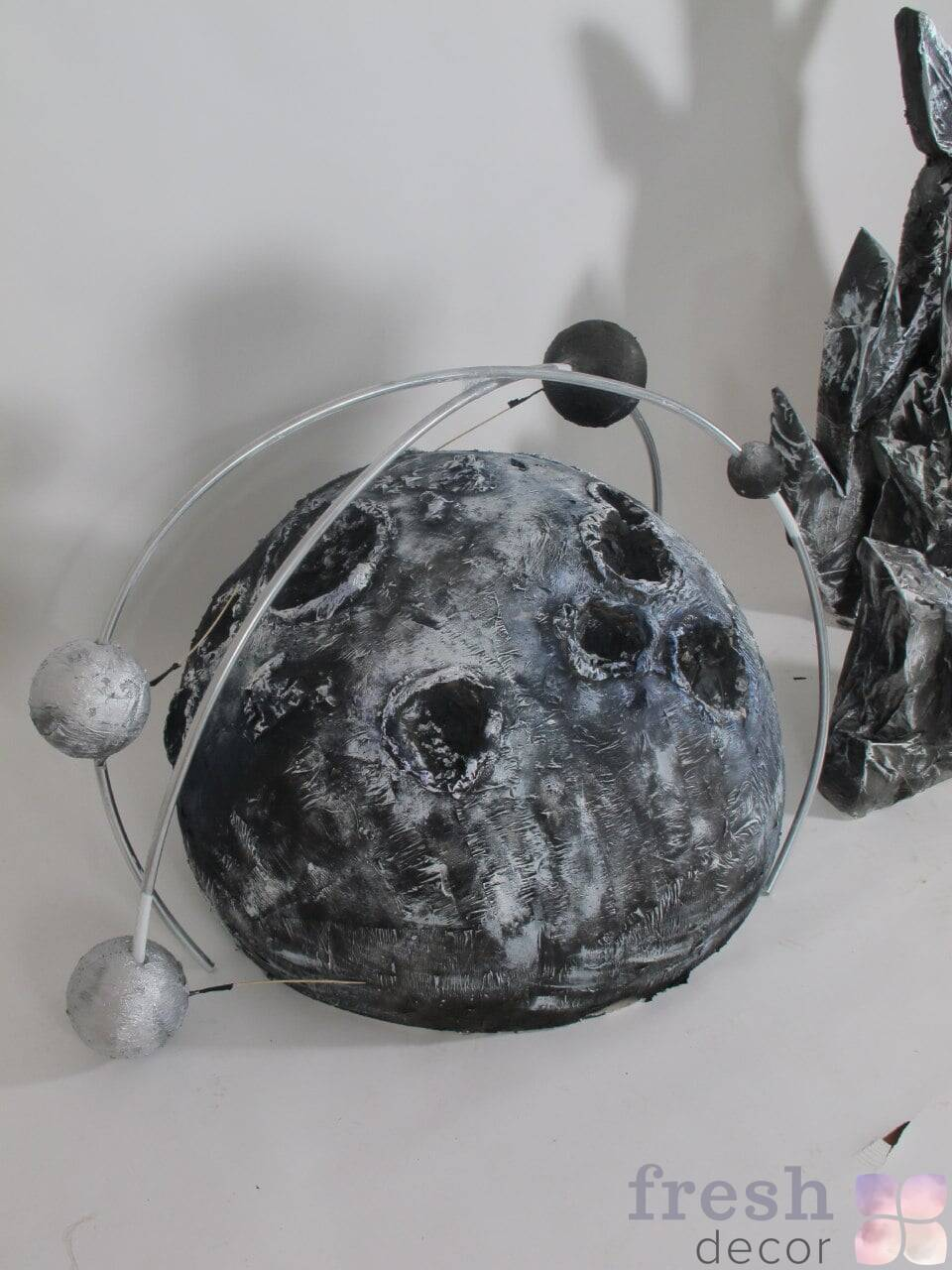 dekoraciya fotozona planeta s kraterami i orbitoj v prokat min