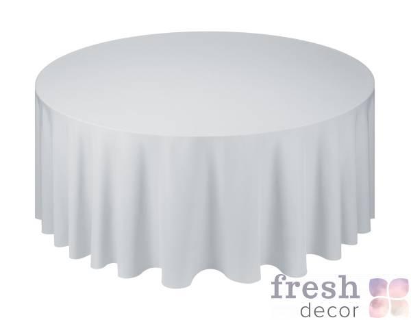 seraya skatert na kruglyj stol diametrom 150 i 180 sm v prokat