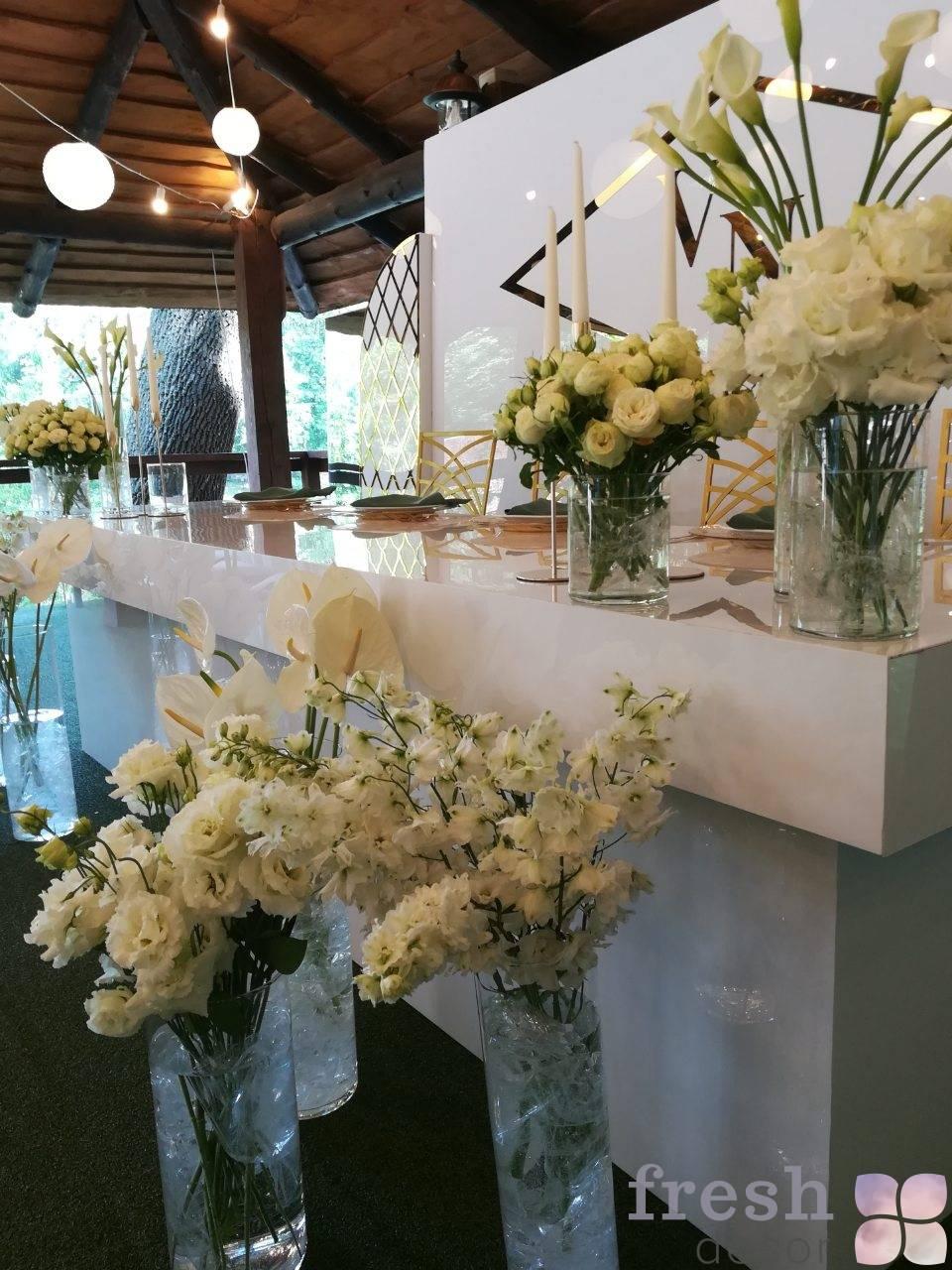 belyj stol dlya molodozhenov 3 metra dlinna shirina 90 sm