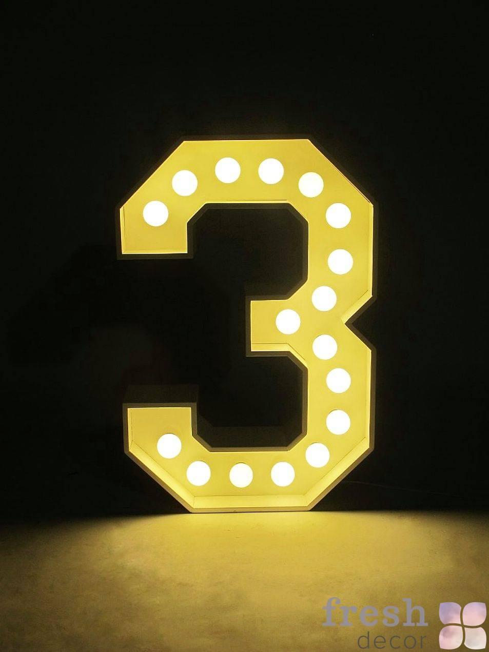 cifr 3 s lampochkami v arendu