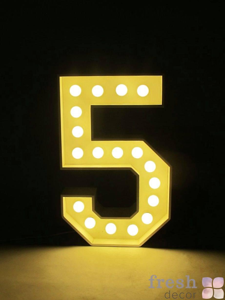 cifra 5 s lampochkami v arendu
