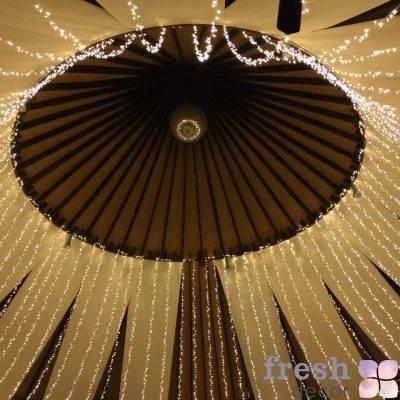 svetodiodnyj potolok zvezdnoe nebo v svadebnom shatre