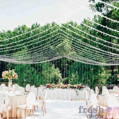 oformlenie svetodiodnymi girlyandami svadby v skovorode