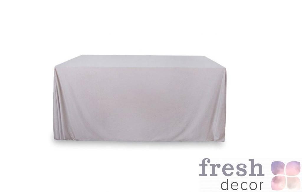 seraya pryamougolnaya skatert na stol 3 na 8 metrov