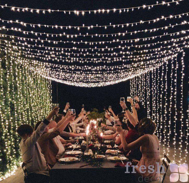 svetovoj dekor girlndami restoranov xarkova