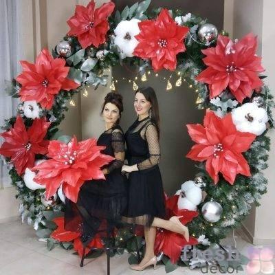 arka iz gigantskix cvetov i xvoi v arendu 1